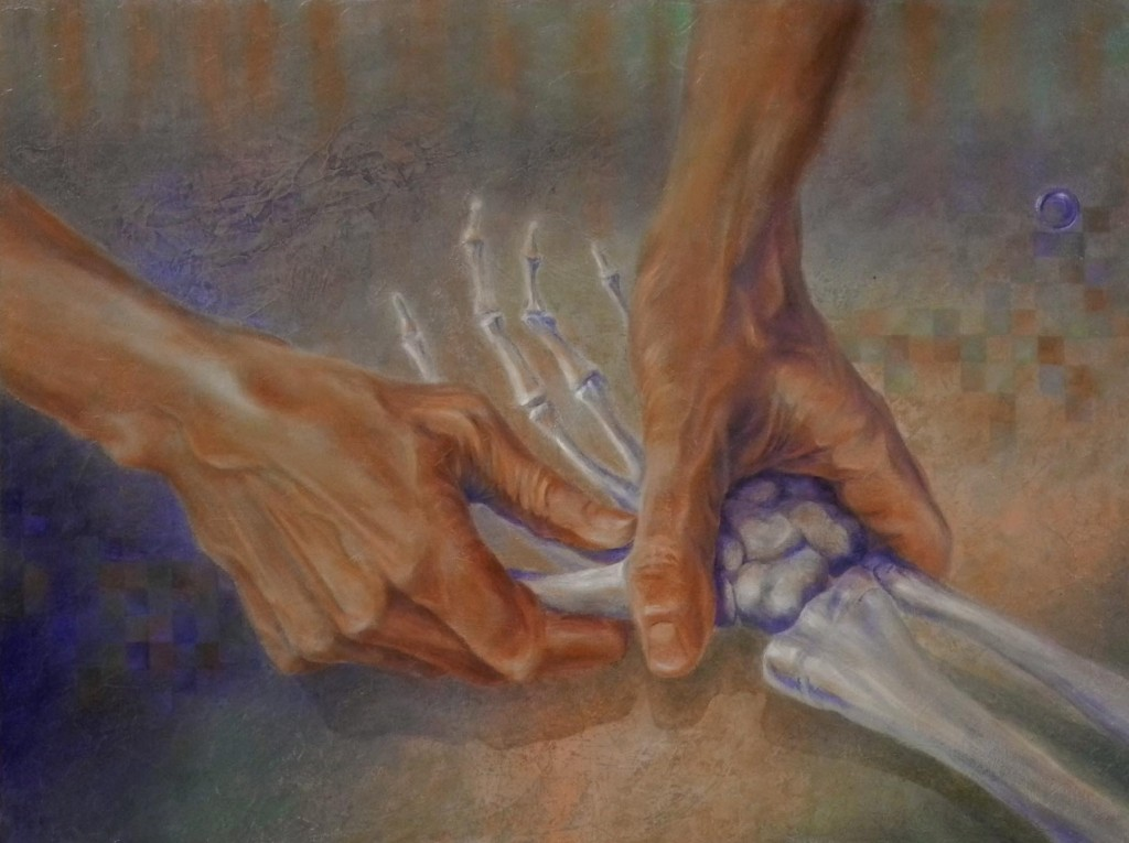 Hand Oil Watercolor Painting