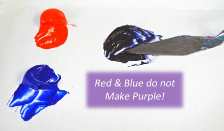 red and blue don't make purple