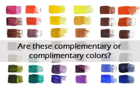 complimentary or complementary colors