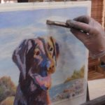 Pet Portrait Painting Process – Step 6 of Skjonn