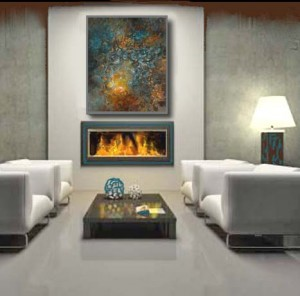 show your paintings on a wall