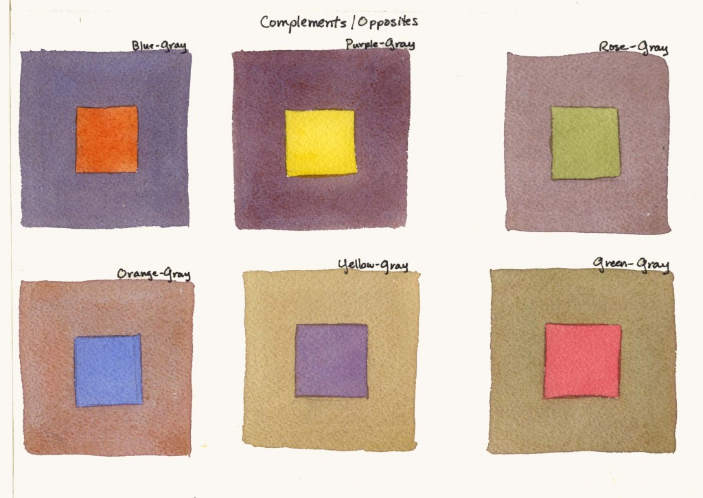 Below Are Examples Of Painting The Complementary Color Within Gray Squares To Add Exercise In Another Set Grays I Have Painted An Ogous