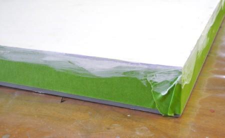paint canvas edges