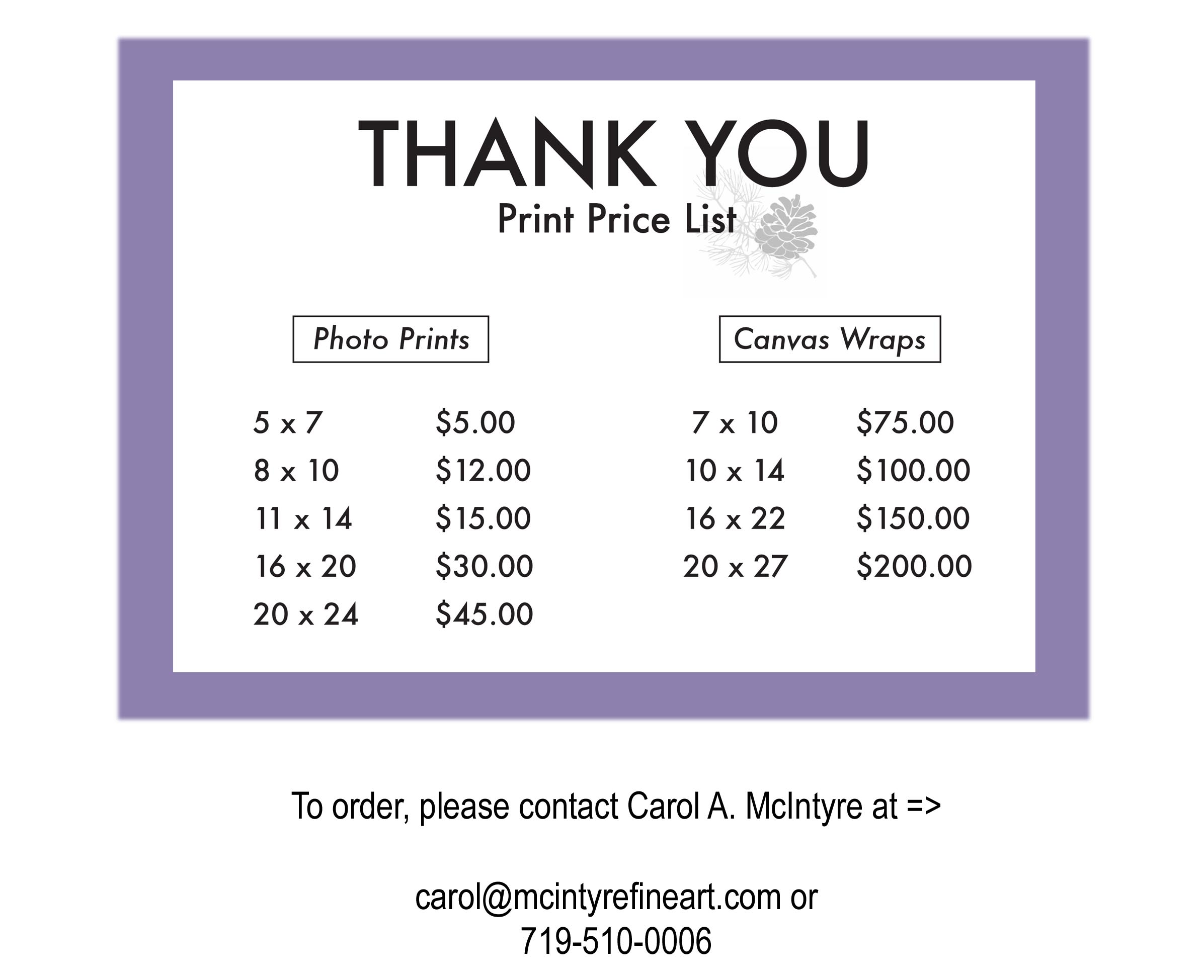 bf thankyou print price list 2 celebrating color