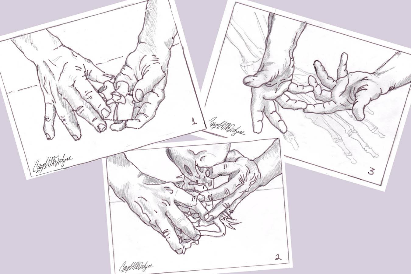 hand portrait commission