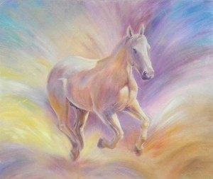 commission horse painting
