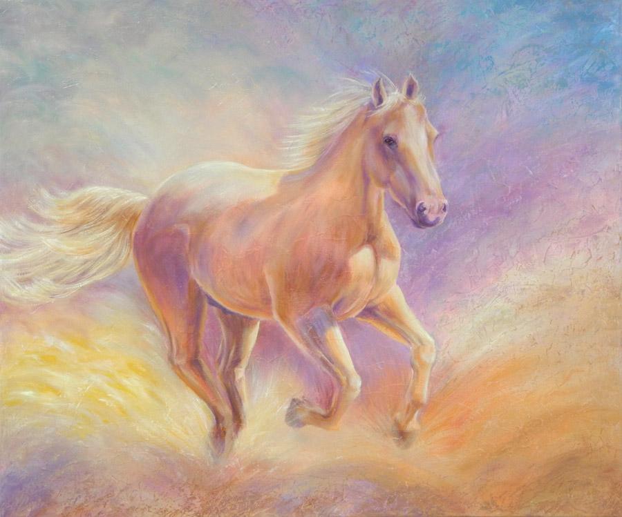 custom horse painting
