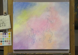 horse painting demo