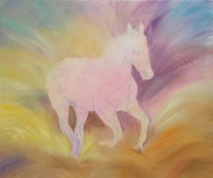 custom horse painting demo
