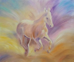 custom painting of horse