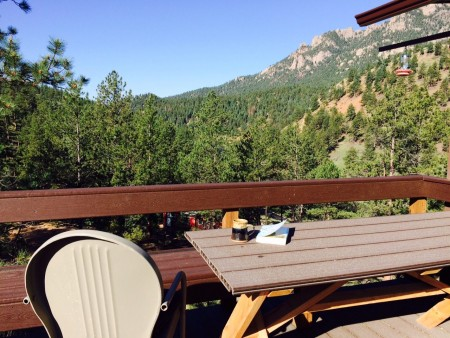 View from our cabin deck.