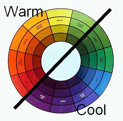 Is the temperature of blue warm or cool celebrating color for Warm sand paint color