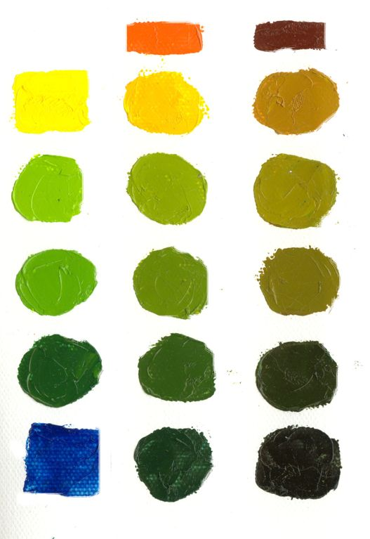 Mix Greens Easily Without Tubes Of Green Paint