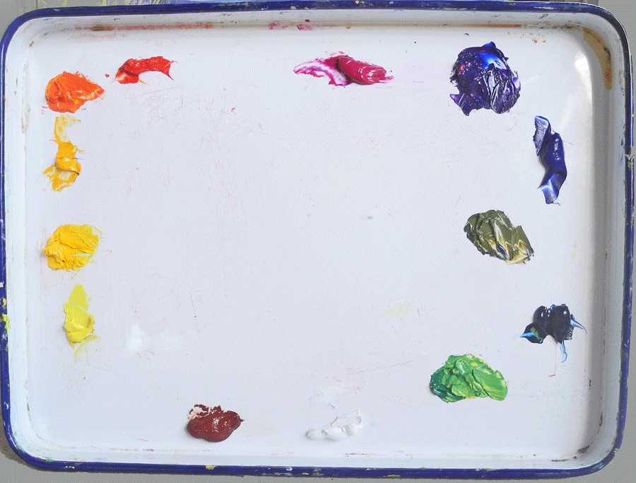 learn color theory, warm and cool colors, mixing color, painting lesson,six primaries