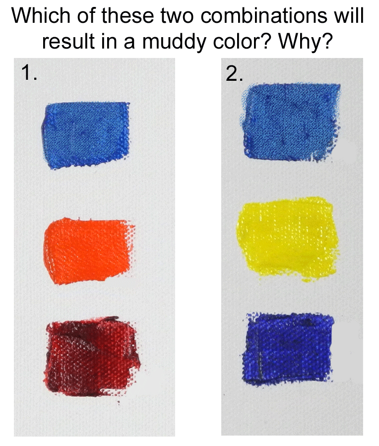 mix mud, color mixing, painting lesson