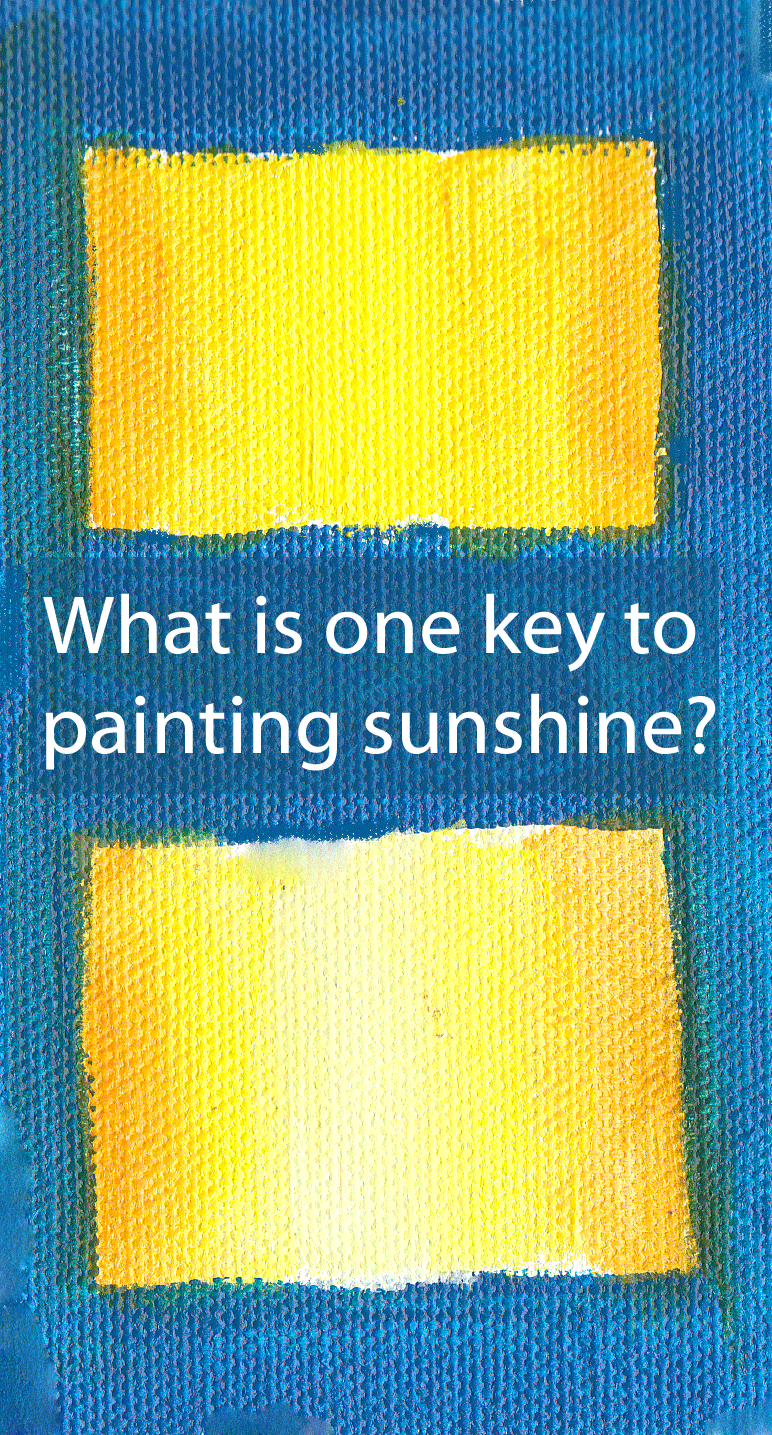How to paint sunshine
