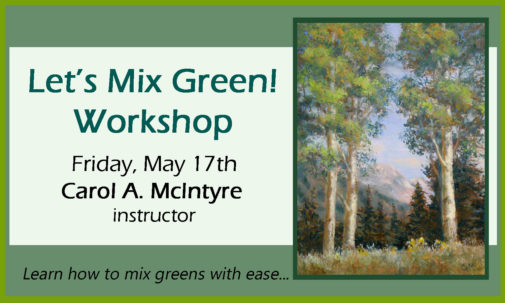 mix green, art instruction, painting