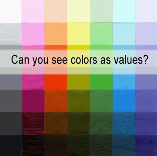 seeing colors as values, color theory